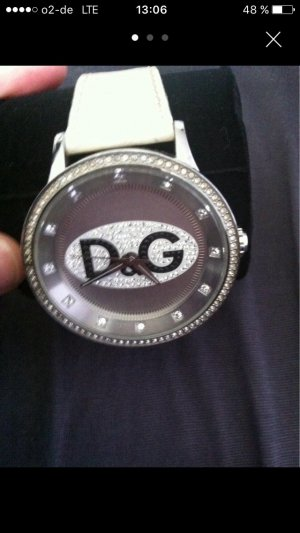 D&G Damenuhr in weiß - Silber