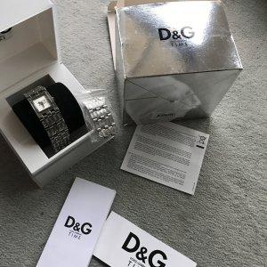 D&G Damenuhr mit Swarovskisteinen