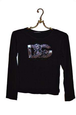 D&G Designer Shirt Pailletten Logoprint