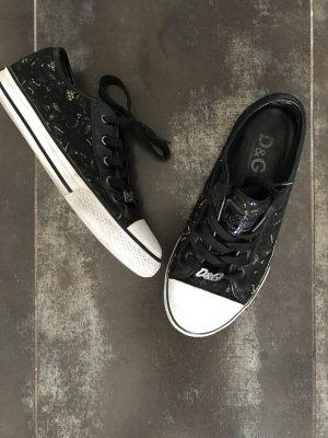D&G Designer Sneaker Chucks aus schwarzer Spitze in gr. 36