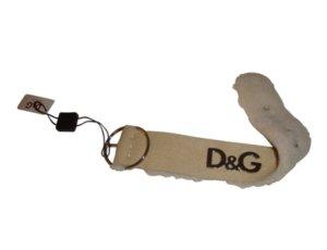 D & G Dolce & Gabbana Armband aus Lammleder beige creme silber neu