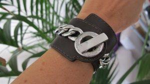 D&G Dolce&Gabbana Armband UNISEX Leder / Edelstahl