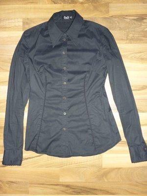 D&G Dolce & Gabbana Bluse Damen Hemd schwarz tailliert Gr. S 36