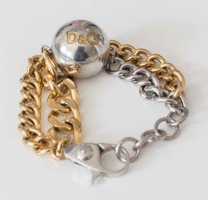 D&G Dolce & Gabbana ~ DAMEN ARMBAND SILBER/GOLD ORIGINAL