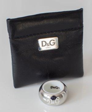 D&G Dolce & Gabbana ~ DAMEN RING 17,5mm SILBER/WEIß ORIGINAL