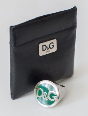 D&G Dolce & Gabbana ~ DAMEN RING 18mm SILBER/GRÜN ORIGINAL