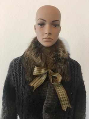 D&G Dolce & Gabbana echt Pelz Fell Kragen Pelzkragen Fellkragen edel Winter kuschelig warm Schal Designer braun beige