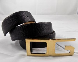 Dolce & Gabbana Leather Belt black-gold-colored leather