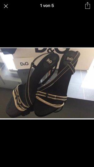 D&G Dolce Gabbana High Heels Sandaletten Top Luxus Style Runway