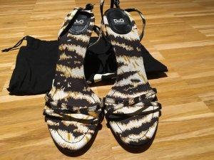 D&G Dolce Gabbana Sandalen Pumps High Heels Animal 40