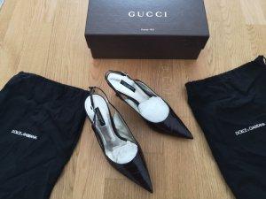 Dolce & Gabbana Décolleté modello chanel marrone scuro