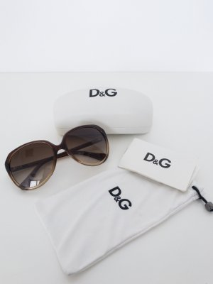 Dolce & Gabbana Oval Sunglasses brown-light brown