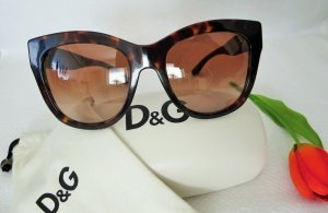 Dolce & Gabbana Butterfly Glasses brown synthetic material