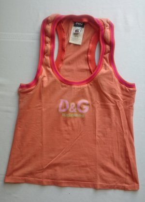 D & G Dolce & Gabbana Tanktop Top Shirt Orange Gr. L
