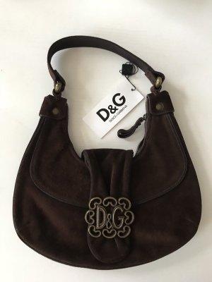 D&G Dolce & Gabbana Tasche Wildleder Braun Neu Original