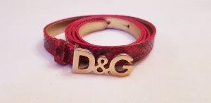 Dolce & Gabbana Ceinture rouge carmin