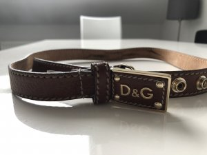 Dolce & Gabbana Leather Belt brown-cognac-coloured