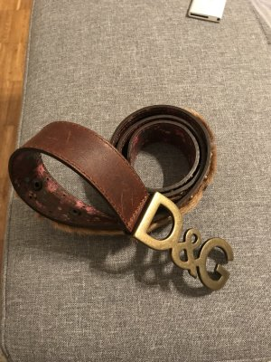 Dolce & Gabbana Leather Belt cognac-coloured