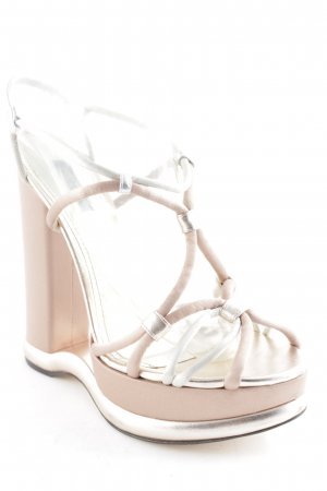 D&G High Heels altrosa-silberfarben extravaganter Stil