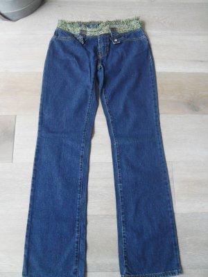 Dolce & Gabbana Straight Leg Jeans dark blue cotton