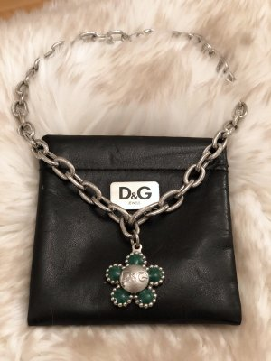 Dolce & Gabbana Link Chain silver-colored-dark green