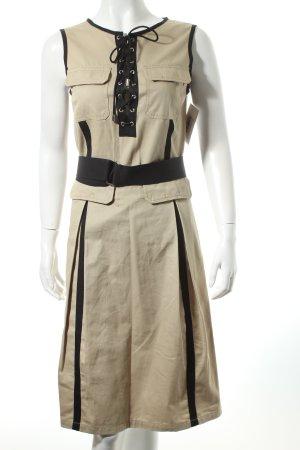 D&G Kleid beige-schwarz Casual-Look
