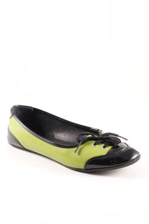 D&G Lackballerinas schwarz-wiesengrün Casual-Look