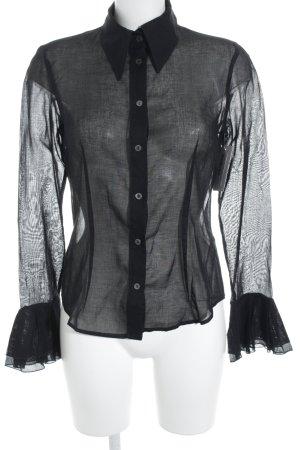 D&G Langarm-Bluse schwarz Elegant