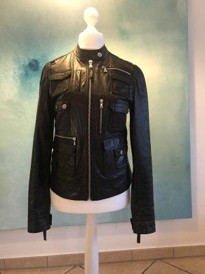 Dolce & Gabbana Leather Jacket black