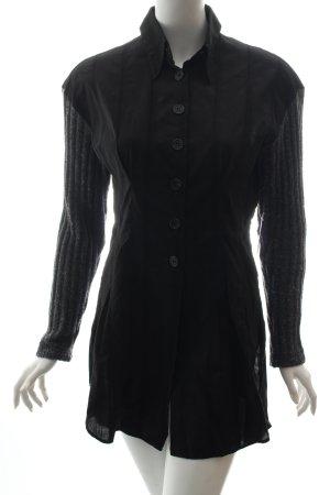 D&G Long-Bluse schwarz-grau Casual-Look