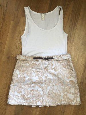 Dolce & Gabbana Miniskirt white-gold-colored