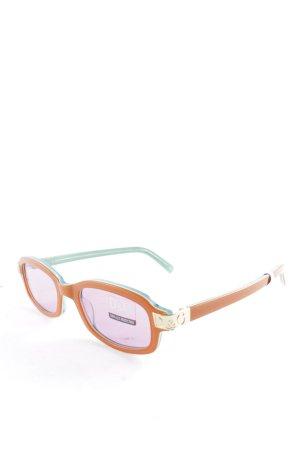 D&G Occhiale da sole ovale arancione scuro-verde stile casual