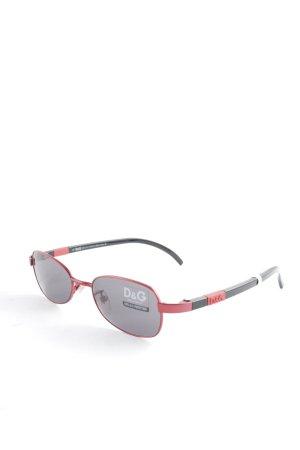D&G ovale Sonnenbrille schwarz-rot Casual-Look