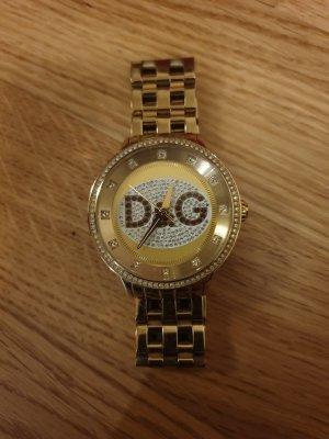 """D&G """"Prime Time Big"""" Uhr, gold"""