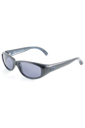 D&G Retro Brille schwarz-himmelblau 90ies-Stil