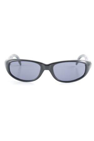 Dolce & Gabbana Retro Brille schwarz-himmelblau 90ies-Stil