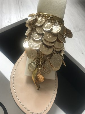 Dolce & Gabbana Sandalias romanas beige-color oro