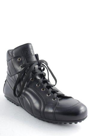 D&G Chaussures à lacets noir style décontracté