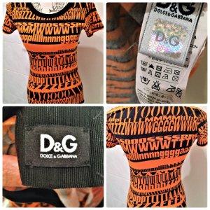 D & G Shirt Gr.36 Farbe Orange/Schwarz
