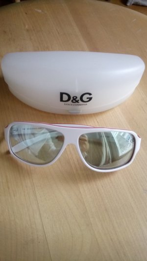 Dolce & Gabbana Aviator Glasses white-red