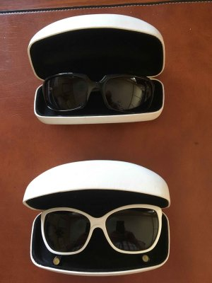 Dolce & Gabbana Oval Sunglasses white-blue synthetic material