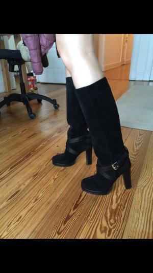 D&G Stiefel aus schwarzem Leder