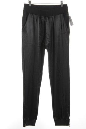 D&G Pantalone jersey nero effetto bagnato