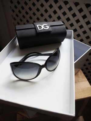 D&G Glasses black-silver-colored acetate