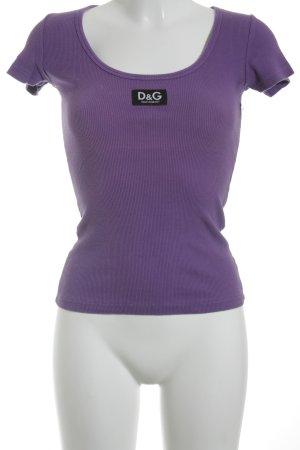 D&G T-Shirt flieder Casual-Look