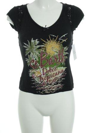 D&G T-Shirt schwarz Motivdruck Casual-Look