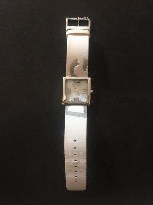 Dolce & Gabbana Orologio con cinturino di pelle bianco-argento