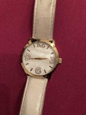 Dolce & Gabbana Montre analogue blanc-doré cuir