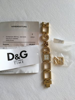 D&G Uhr Night and Day Gold mit Swarowski Steinen