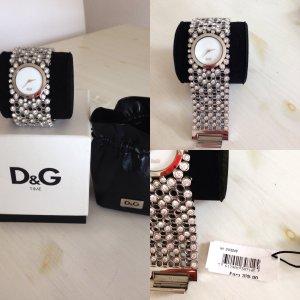 D&G Uhr Silber Strass Neu mit Etikett und Zertifikat Dolce & Gabanna